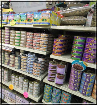 Canned, dry, raw...we have pet food